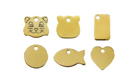 Red Dingo Flat Brass Cat Tags